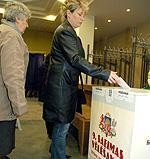 Fotoreprtāža: Vēlēšanu norise Liepājā