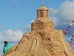 Smilšu kompozīcijas pludmalē
