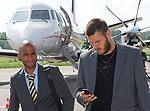 Zviedru futbolisti ir ieradušies
