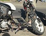 Satiksmes negadījumā cieš motorollera vadītājs un viņa pasažieris (papildināts ar foto)