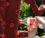 Liepājnieki veido pudeļu koku