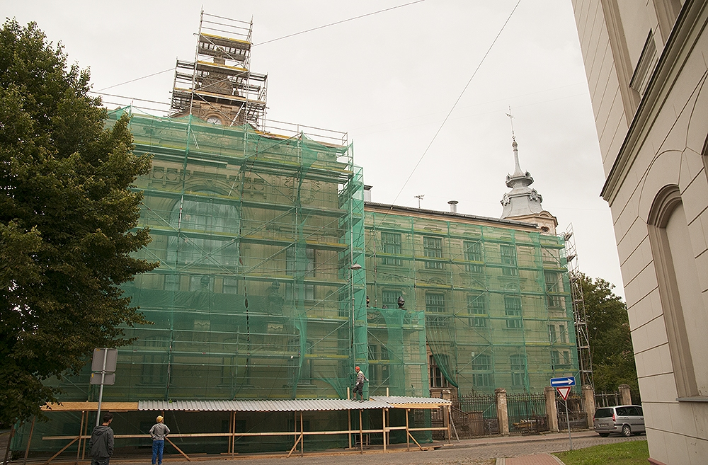 Sākusies Liepājas 1.ģimnāzijas rekonstrukcija