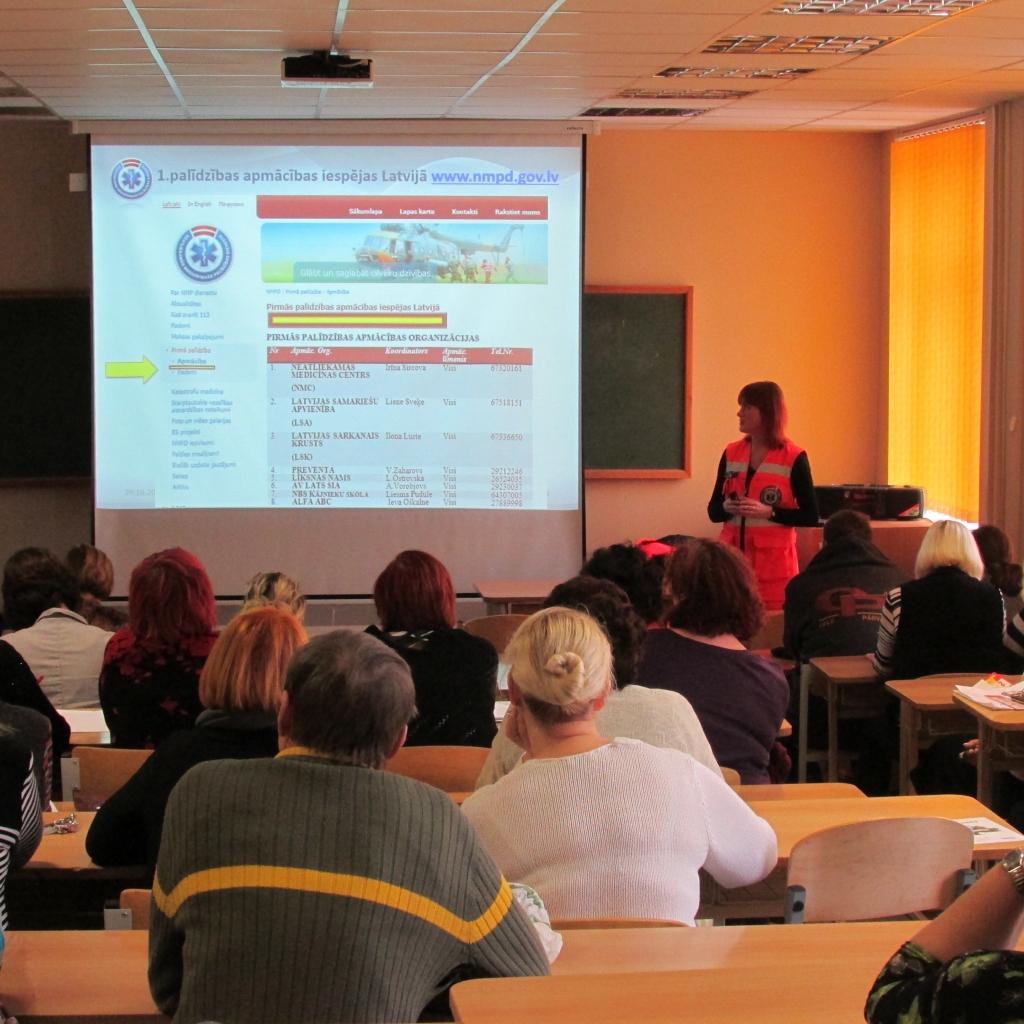 NMP dienests uzsāk lekciju ciklu pedagogiem par pareizu rīcību nelaimes gadījumos skolā