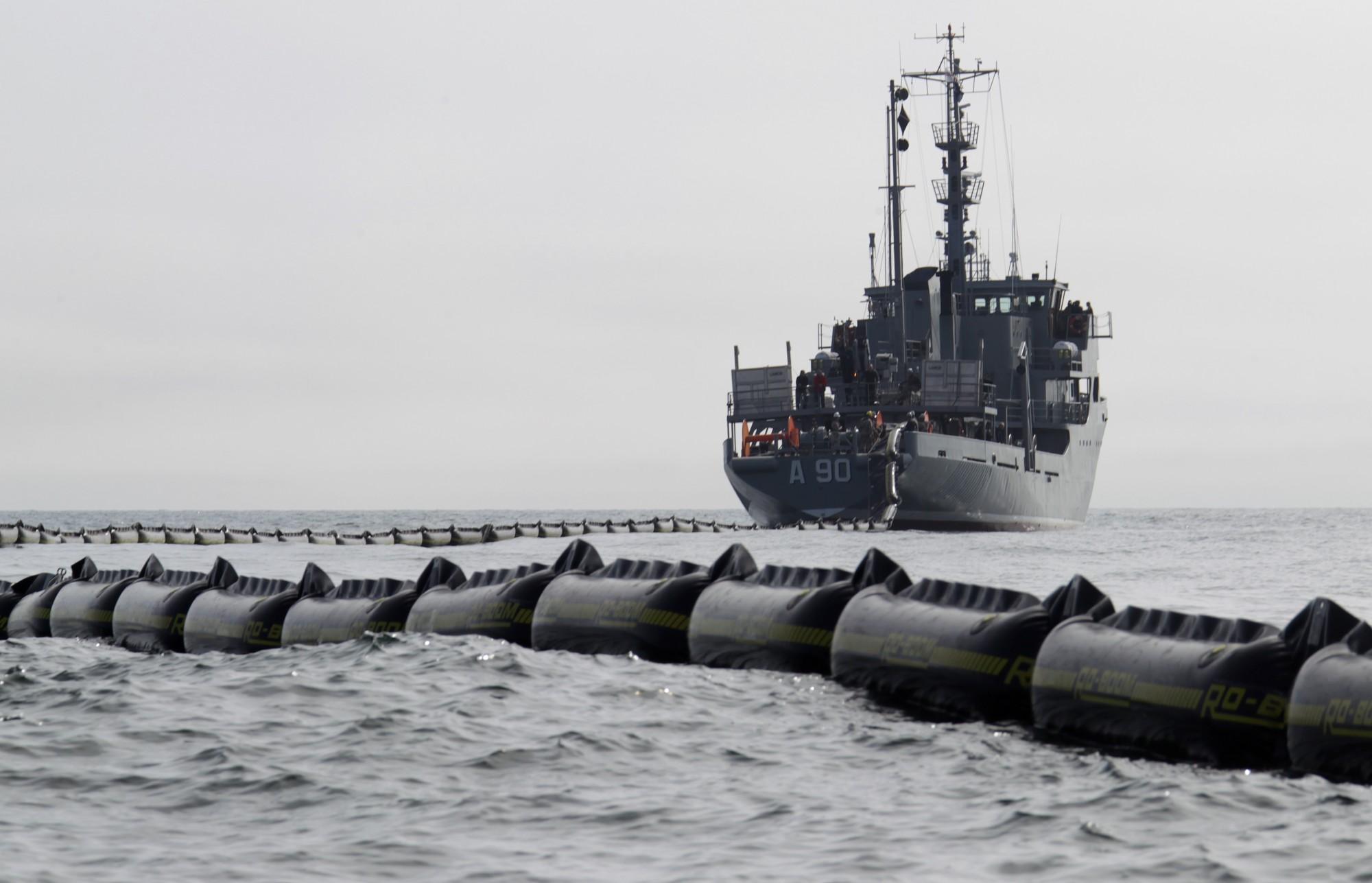 Jūras spēki piedalīsies starptautiskās naftas seku likvidācijas mācībās