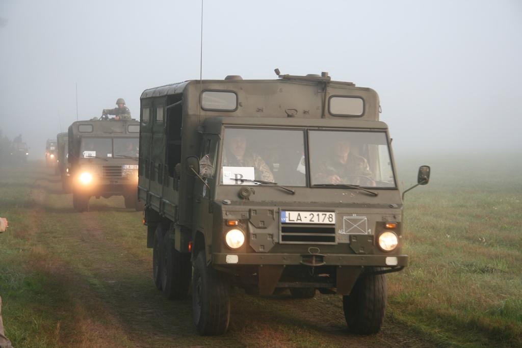 No Liepājas uz Stopiņu novadu dosies militārās tehnikas kolonnas