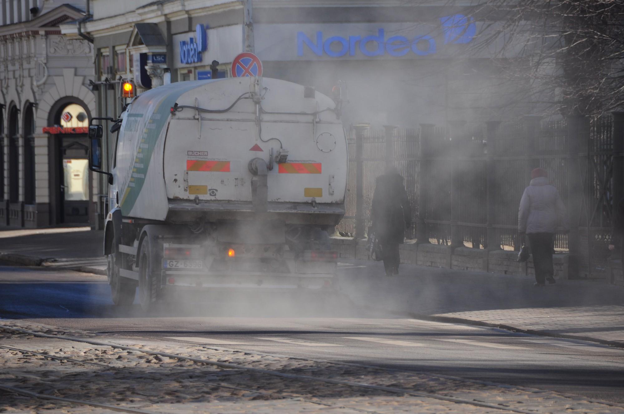 Putekļu daudzums Liepājas ielās pārsniedz pieļaujamo
