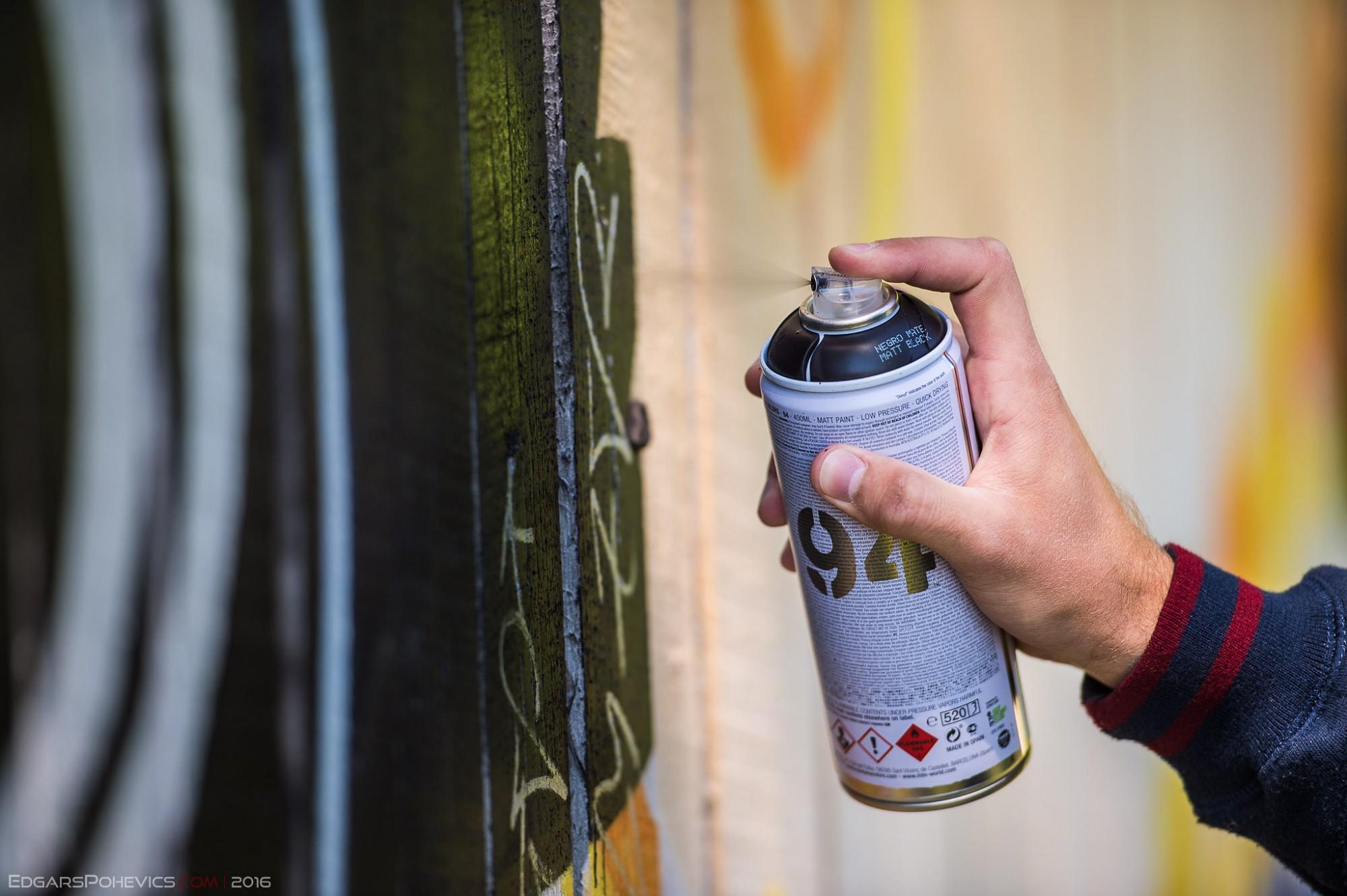 Grafiti zīmējumu konkurss uz oficiālās grafiti sienas turpināsies visu vasaru