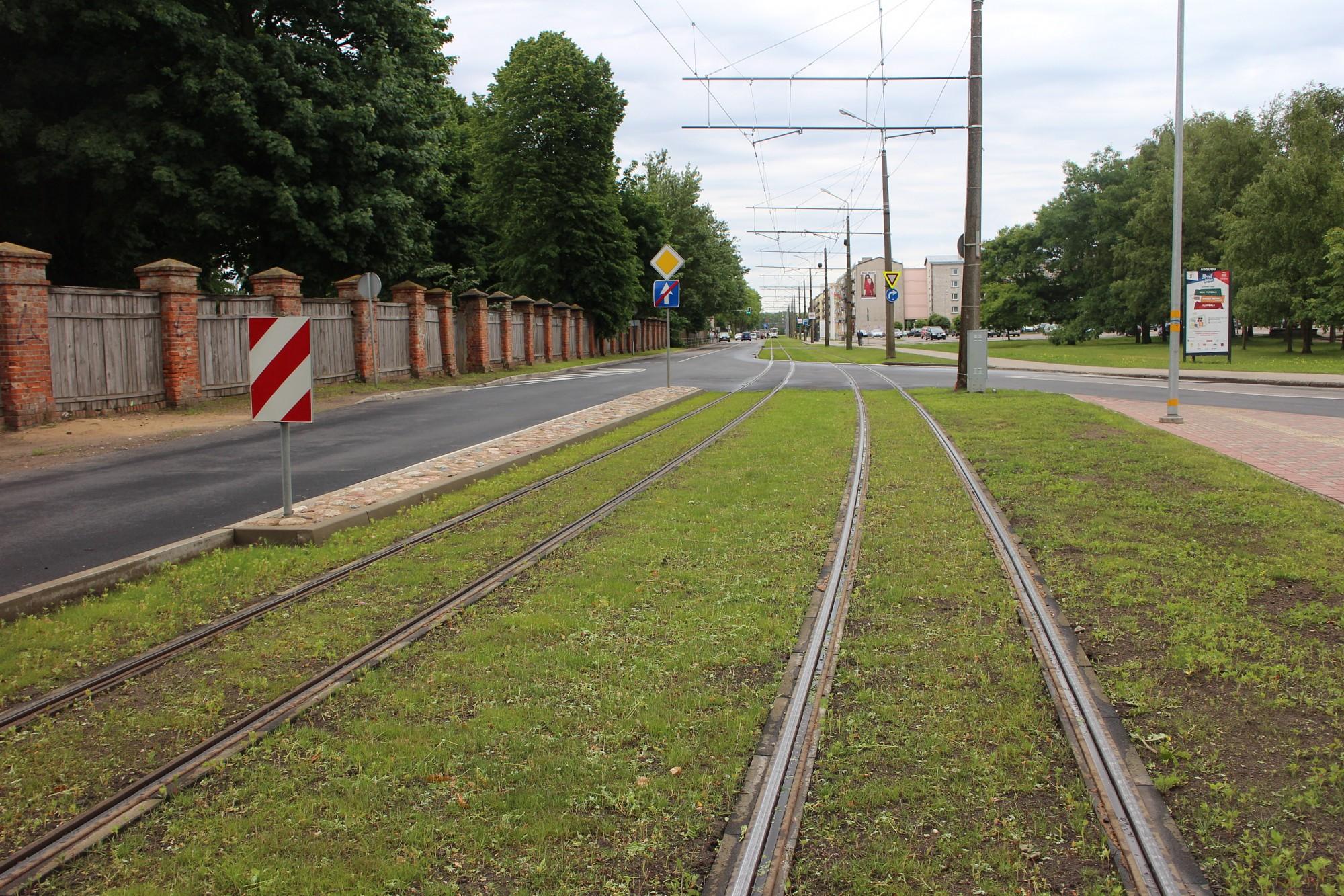 Pabeigta tramvaju sliežu ceļa renovācija Klaipēdas ielā