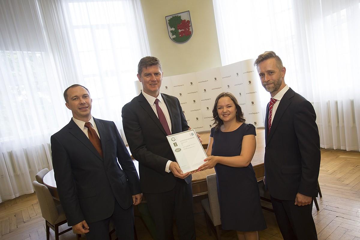 Liepājā ieviesta un sertificēta starptautiski akreditēta energopārvaldības sistēma