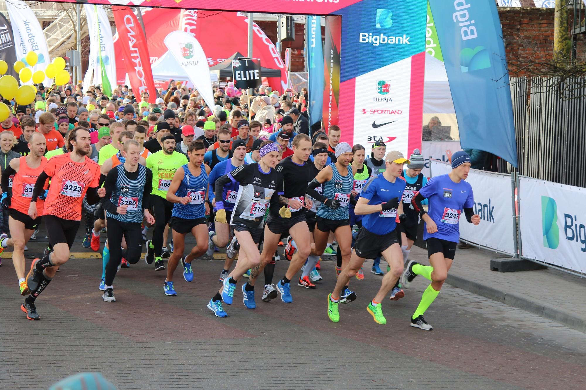 Pusmaratonā krīt personīgie rekordi (papildināts ar rezultātiem)