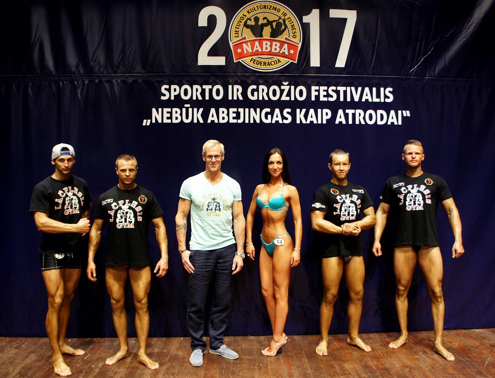 Liepājas un Grobiņas apvienotā bodībildinga un fitnesa komanda veiksmīgi startē Lietuvā