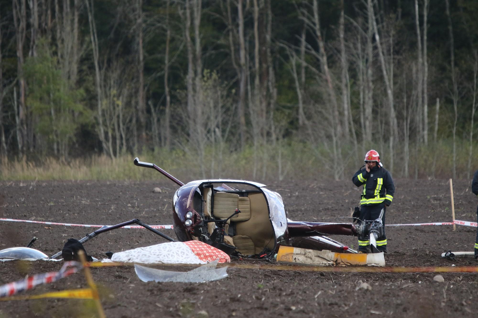 Helikoptera avārijas izmeklēšana nebūs ātra