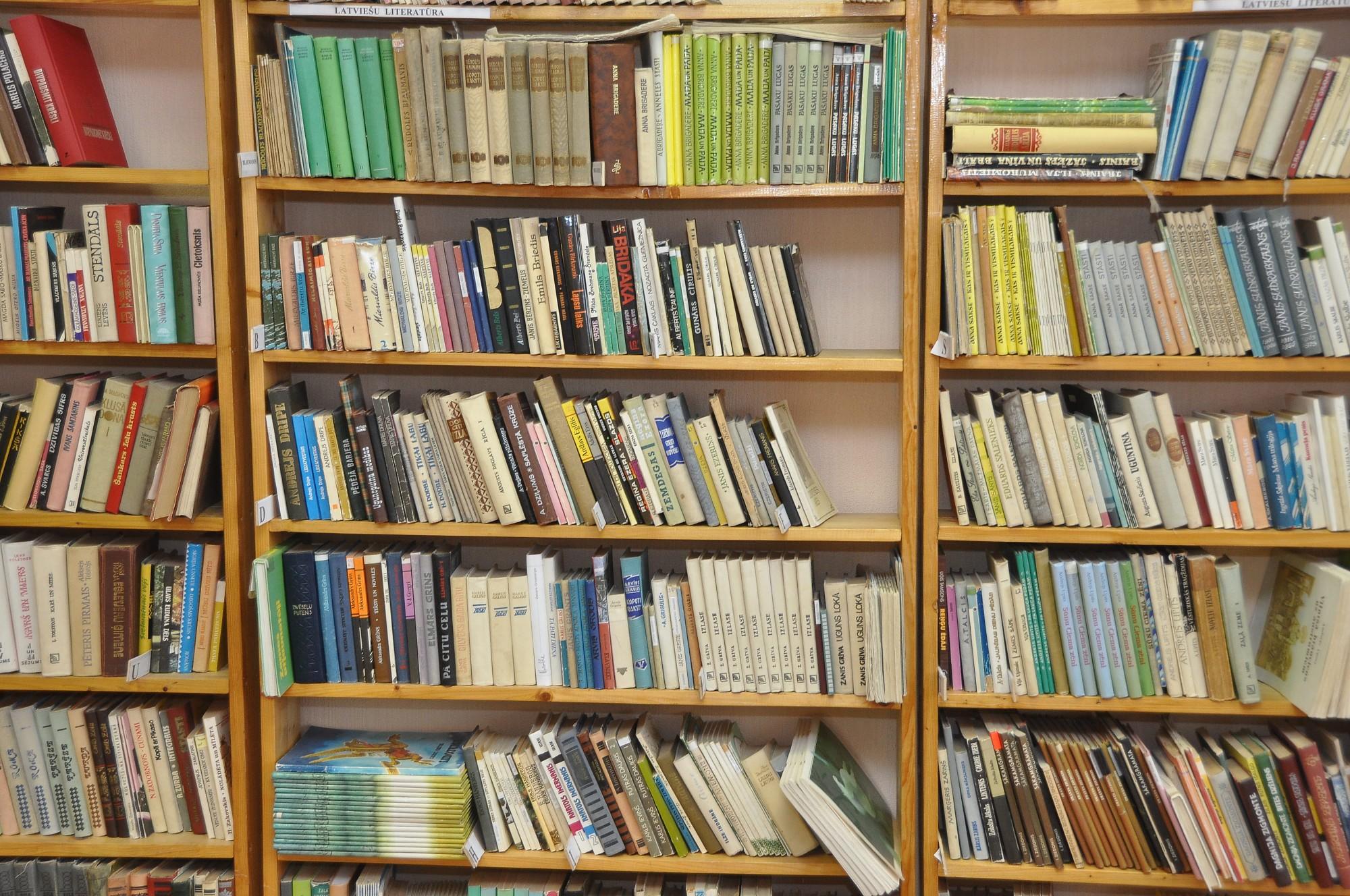 Bibliotēka slēgta pa blokiem