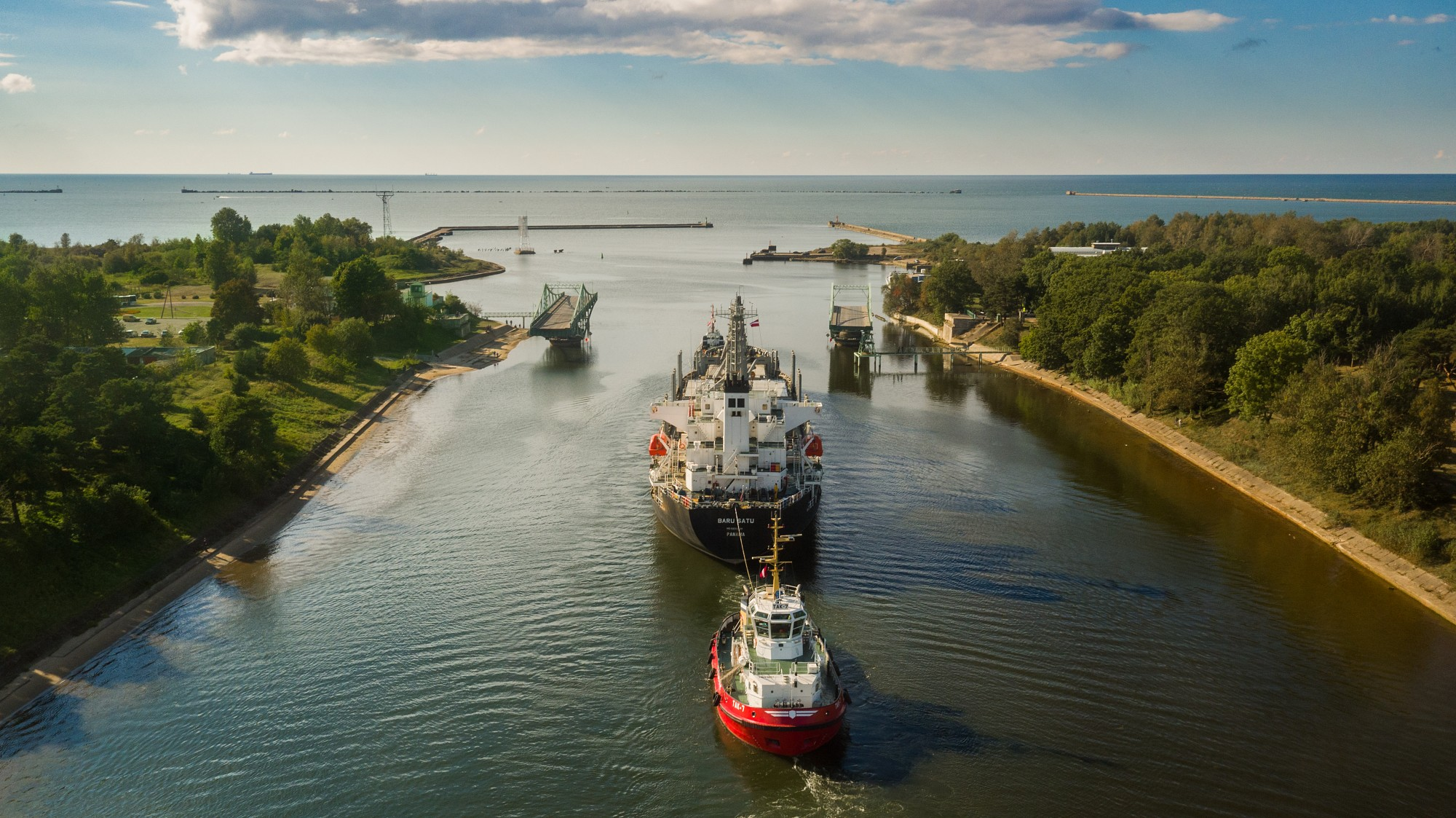 Iztaisnos kuģu ceļu Karostas kanālā