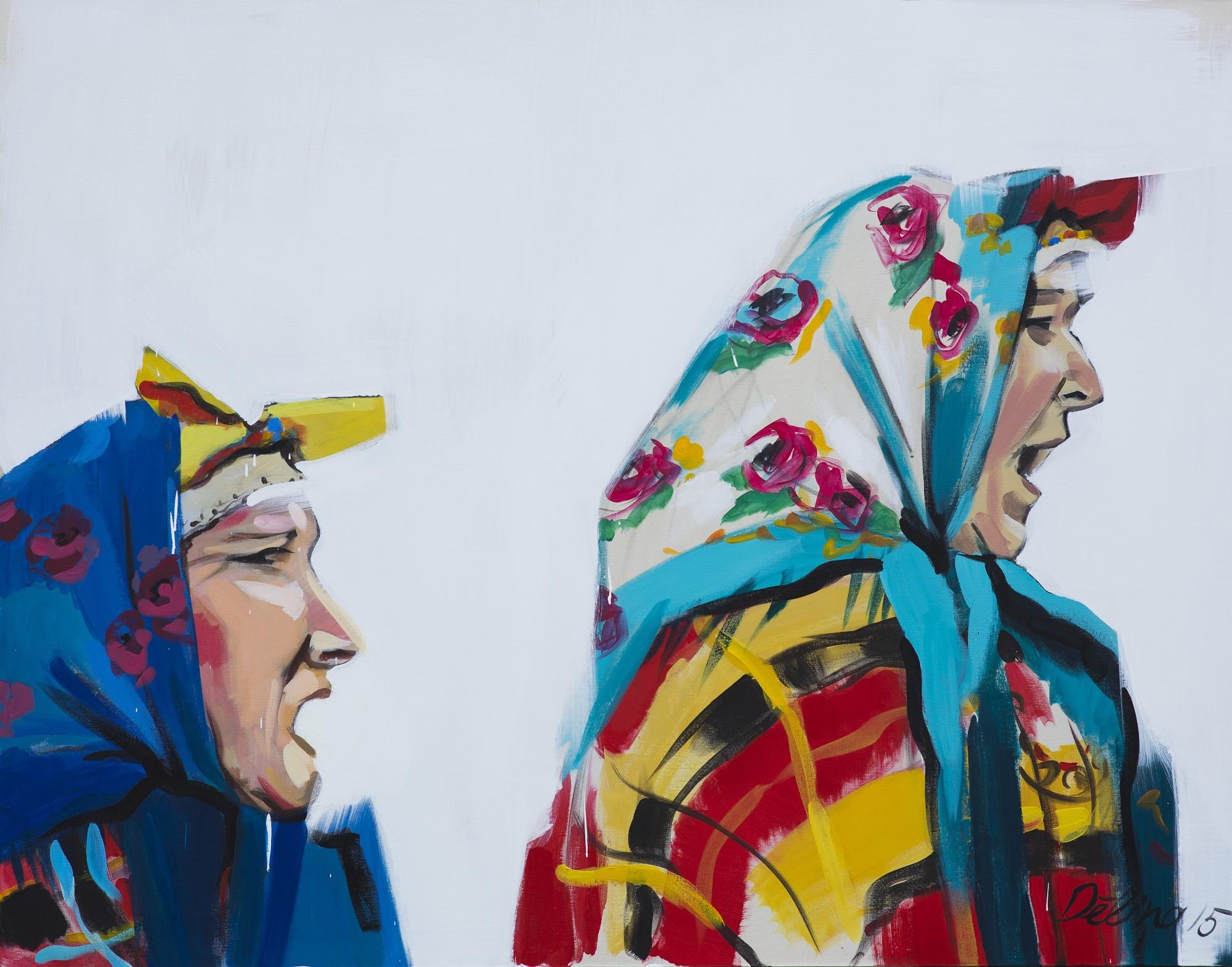 """Daces Dēliņas-Lipskas glezna """"Saucējas"""""""
