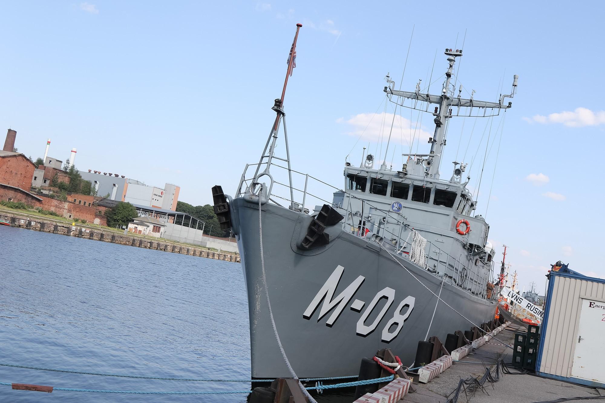 """""""Rūsiņš"""" devies uz dežūru NATO 1.pastāvīgajā jūras pretmīnu grupā"""