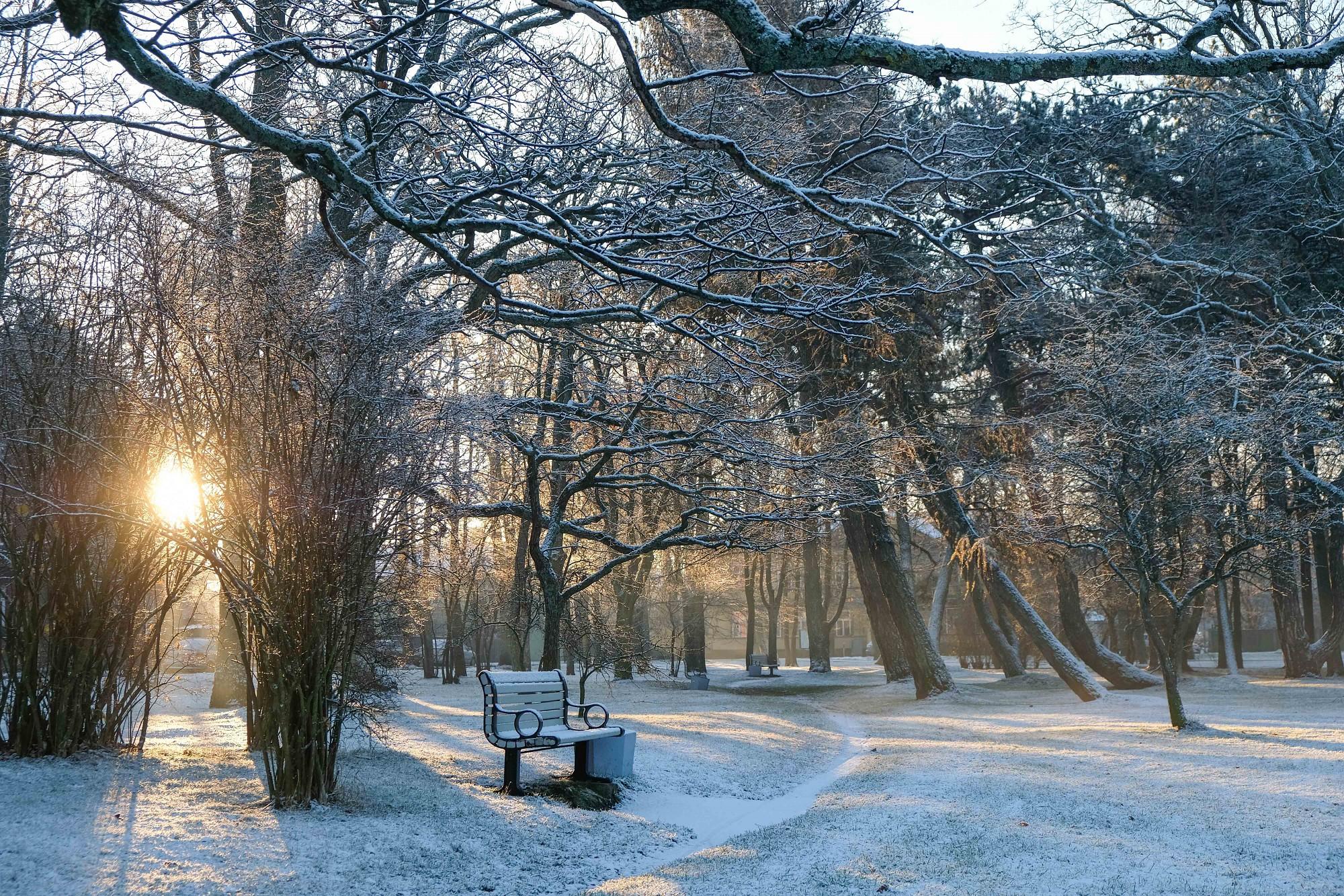 Foto: Pirmais sniegs Liepājā