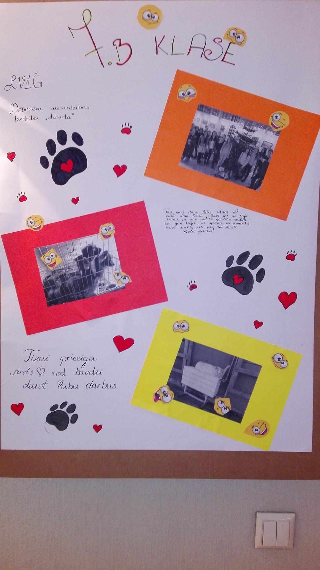 Draudzīgākās 7. klases darina plakātus par aizvadīto pirmo semestri