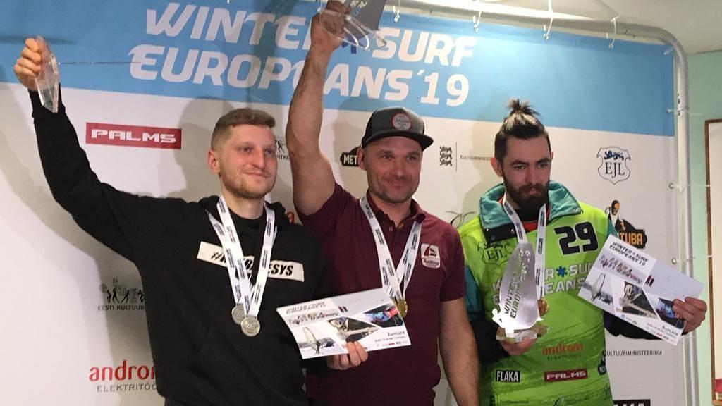 Preiss izcīna divus zeltus Eiropas ziemas čempionātā vindsērfingā