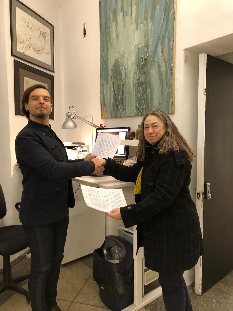 LMMDV noslēdz sadarbības līgumu ar Lietuvas Mākslinieku savienību