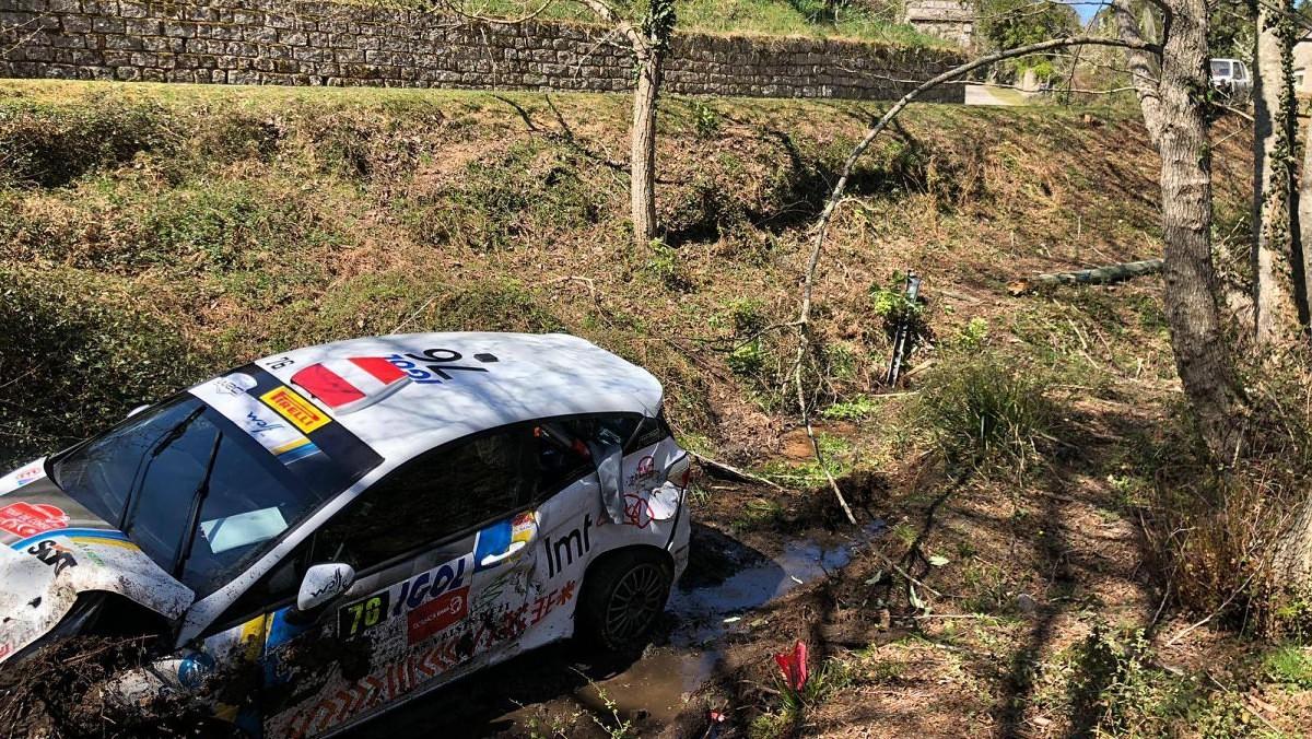 Sesks/Caune Korsikas rallijā avarē, ekipāža nav cietusi