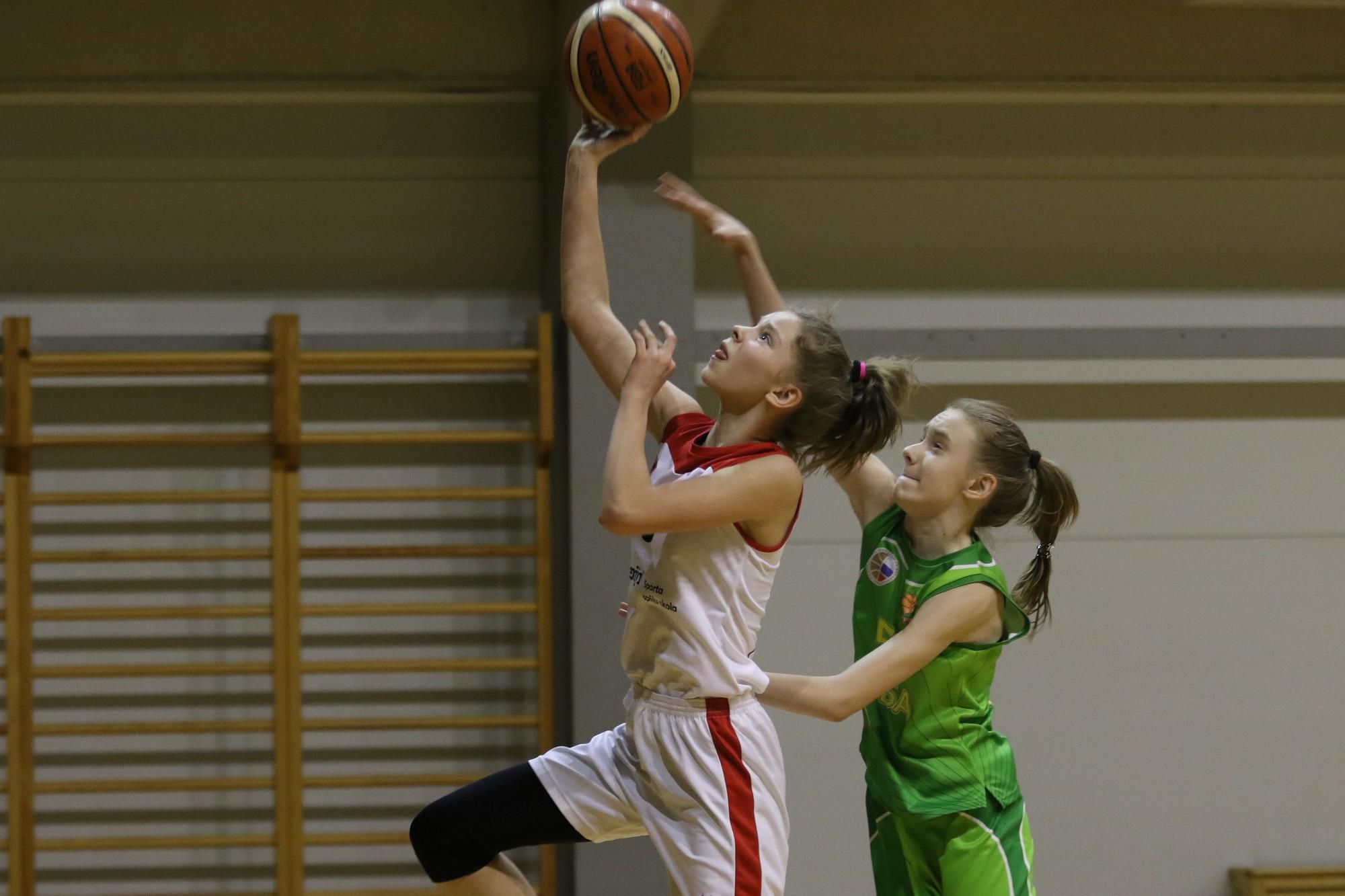 Jaunās basketbolistes ierindojas 6. vietā
