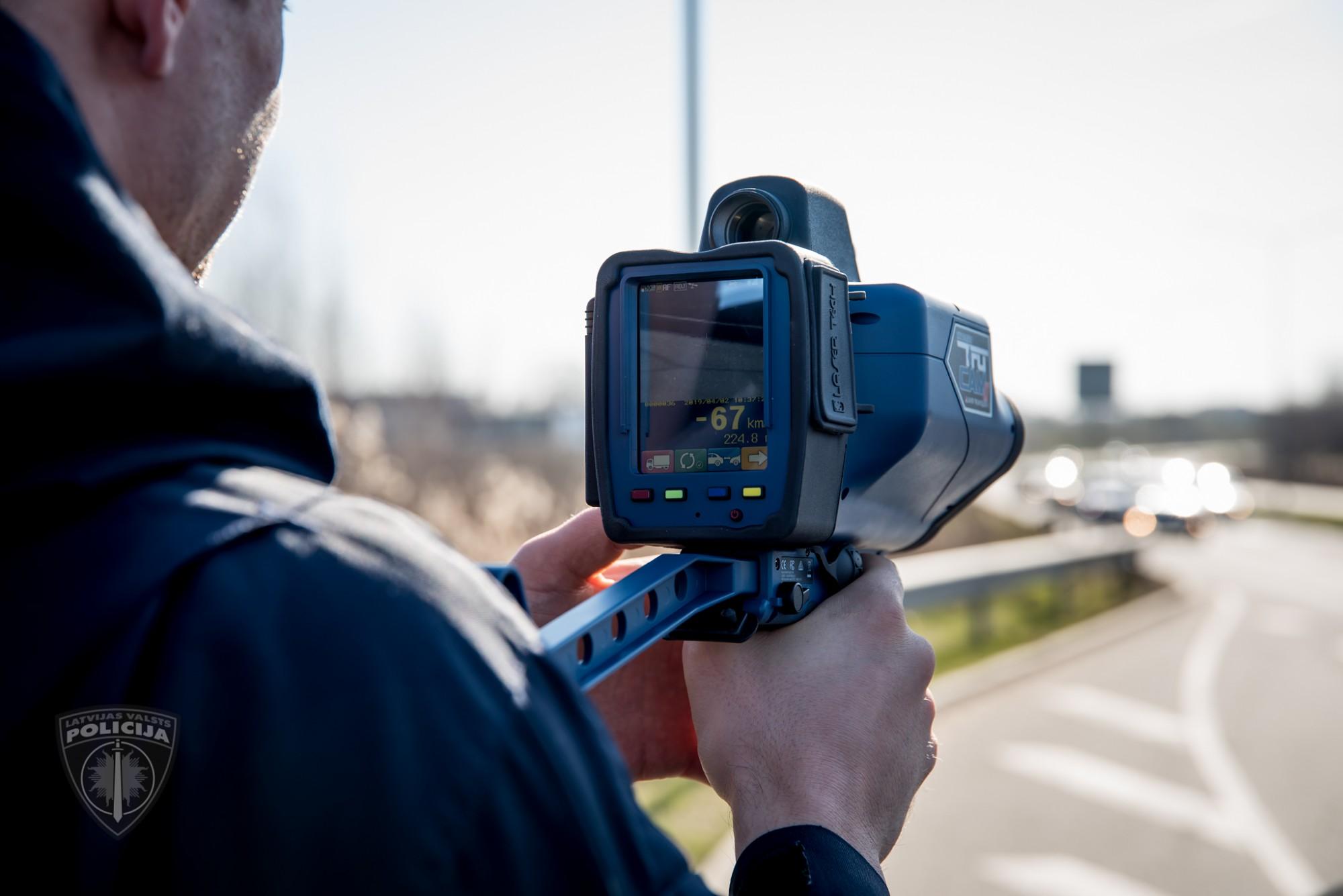 Arī Liepājas policijai divi jauni rokas radari