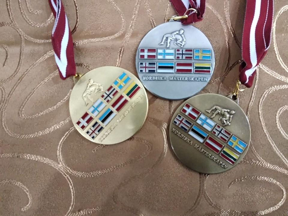 Cīkstoņiem medaļas Ziemeļvalstu čempionātā