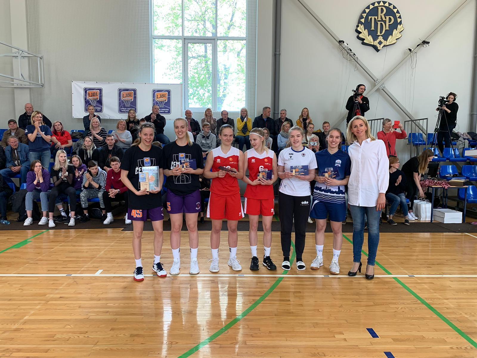 U19 vecuma grupas basketbolistēm sudrabs; puišiem 4.vieta