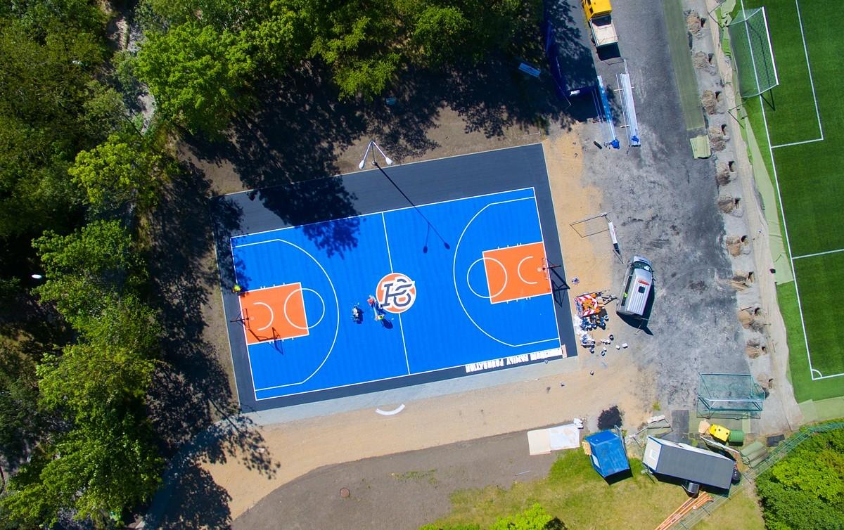 Porziņģa dāvināto basketbola laukumu Dunikas ielā plāno izveidot šovasar
