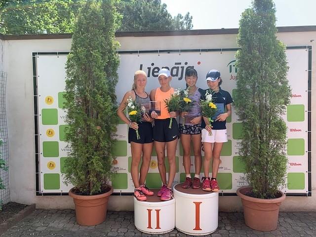 Starptautiskā tenisa turnīrā Liepājā, labi sasniegumi arī mājiniekiem