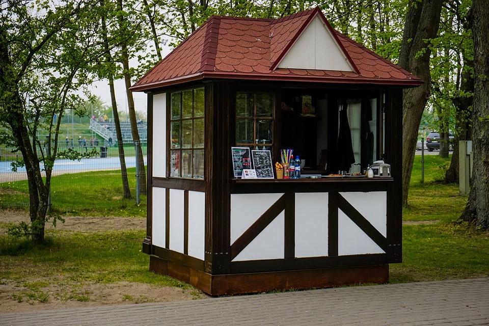 """Jūrmalas parkā apzagts uzņēmuma """"Tāfele"""" kiosks"""