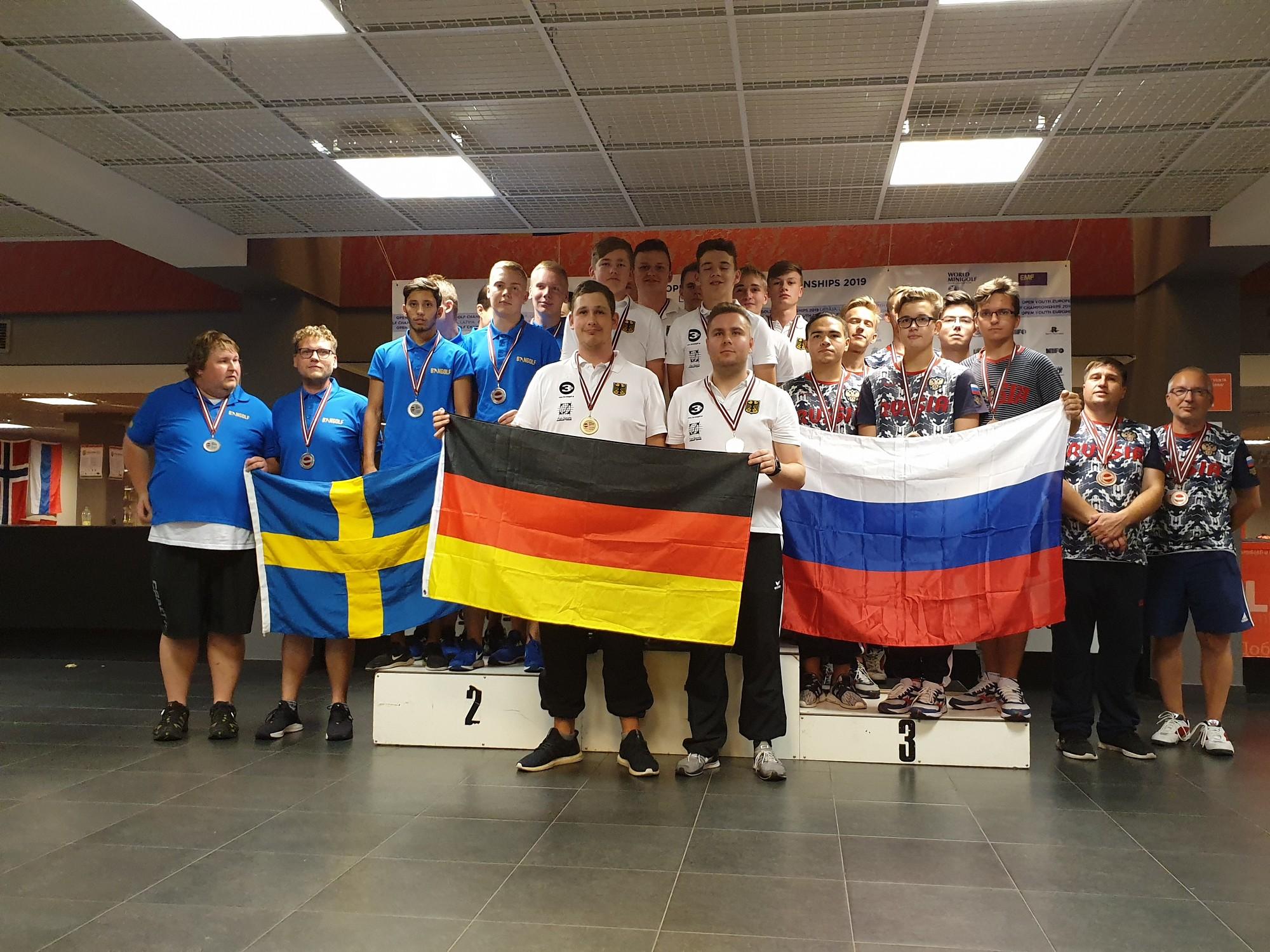 Eiropas junioru čempionātā minigolfā triumfē zviedru meitenes un vācu zēni
