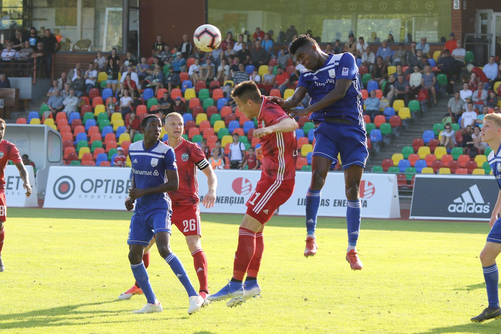 """""""Liepājas"""" futbolisti trešo reizi piekāpjas """"Daugavpils"""" komandai"""