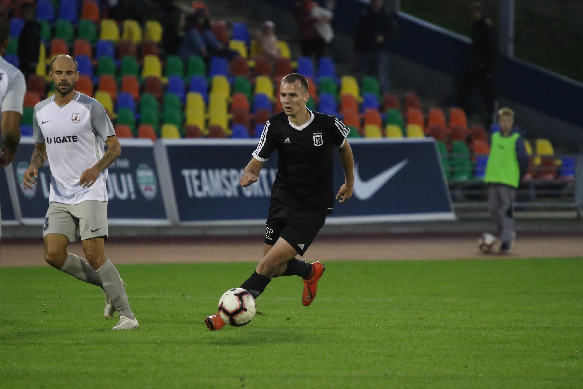 """Latvijas kausa izcīņas spēlē futbola klubs """"Karosta"""" piedzīvo sakāvi pret """"Jelgavu"""""""