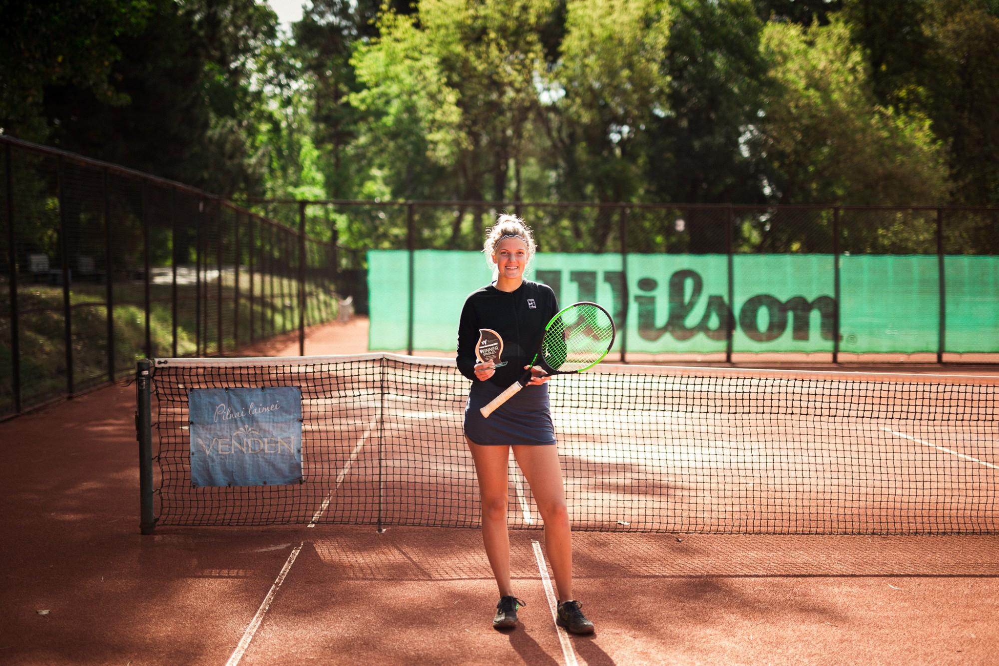 """Ar liepājnieces uzvaru noslēdzas starptautiskais """"ITF Juniors"""" tenisa turnīrs"""