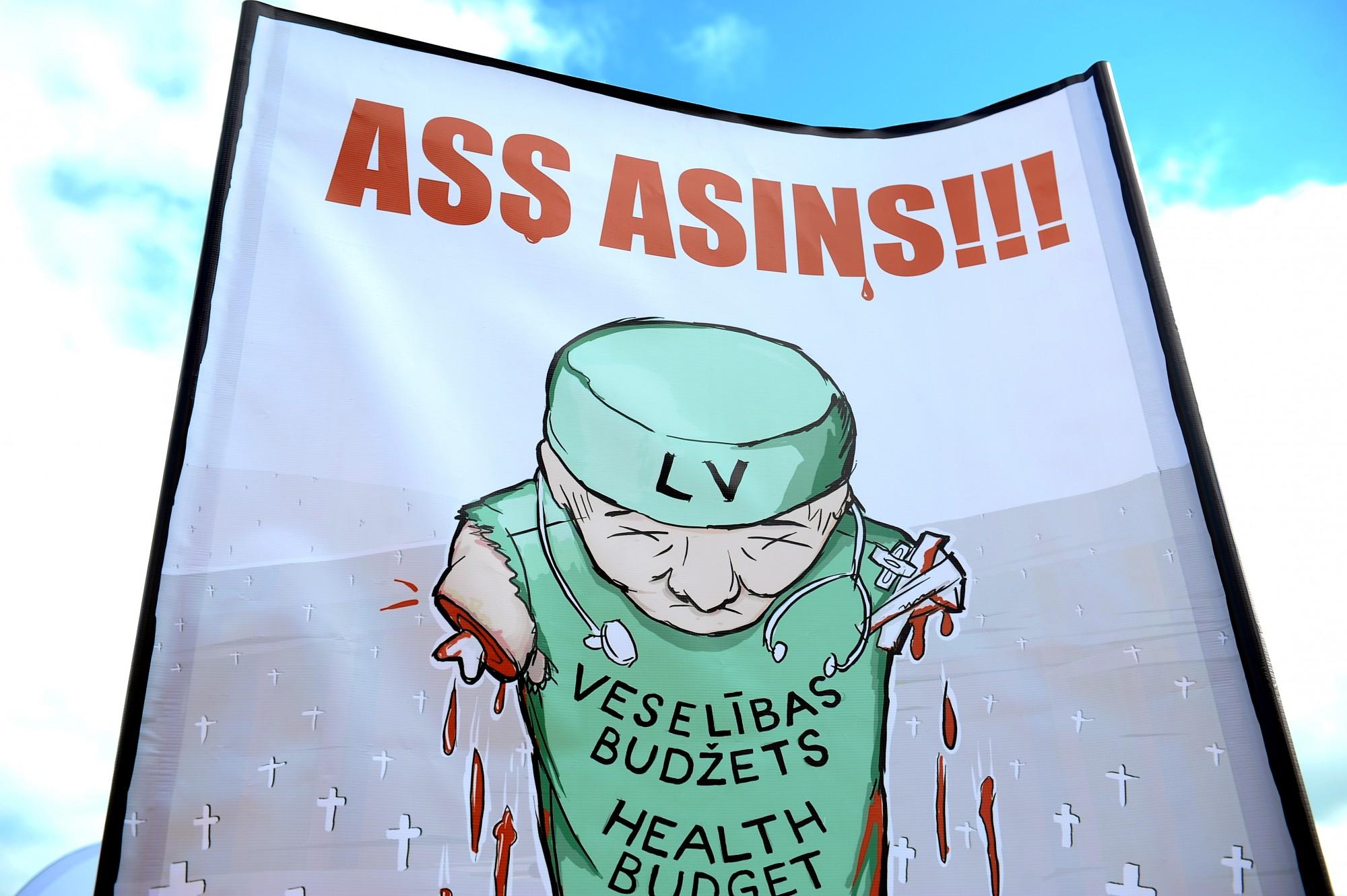 Mediķu arodbiedrība nolemj rīkot plašas protesta akcijas