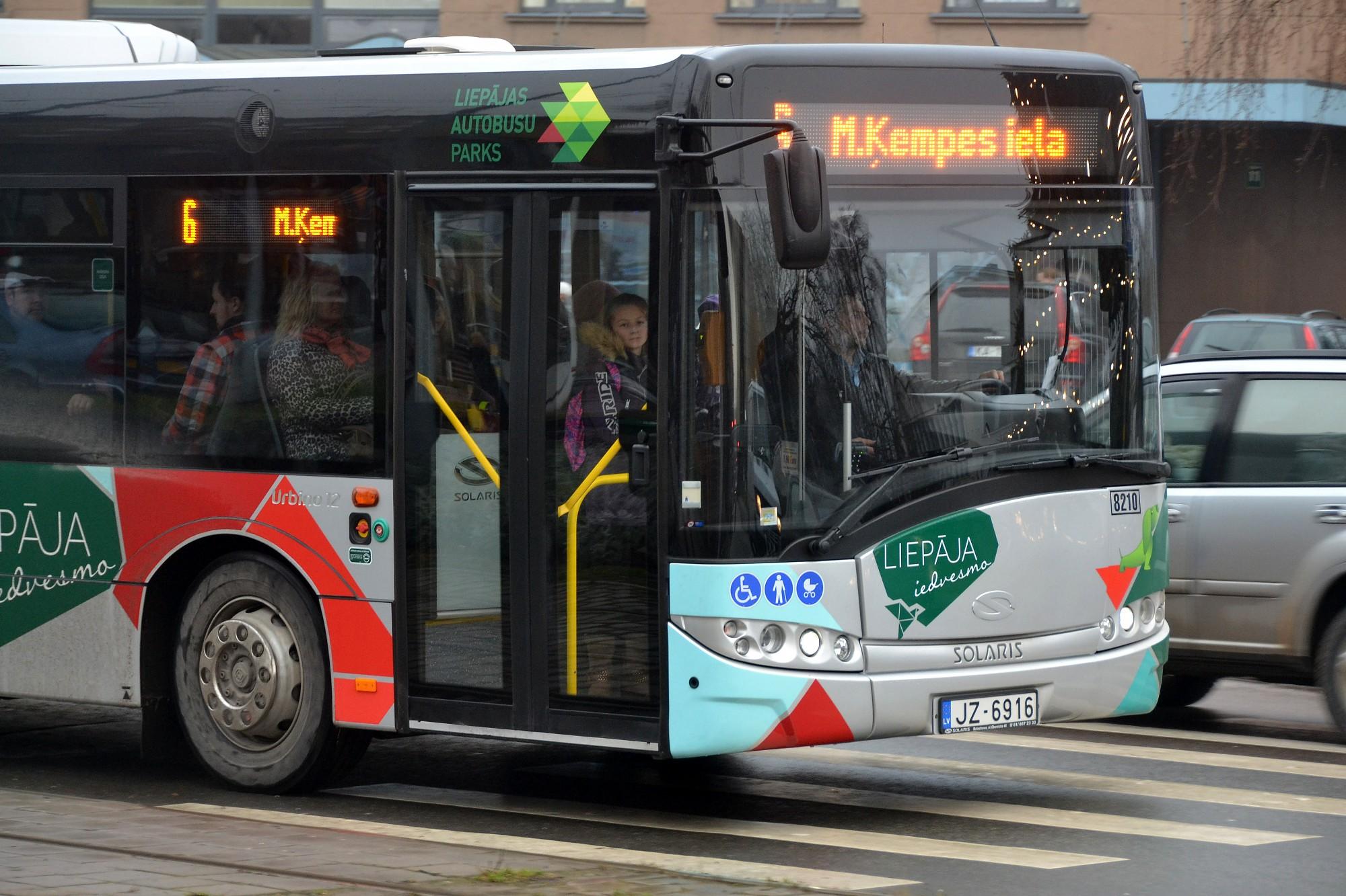 Liepājas sabiedriskajā transportā atkal gūst traumas
