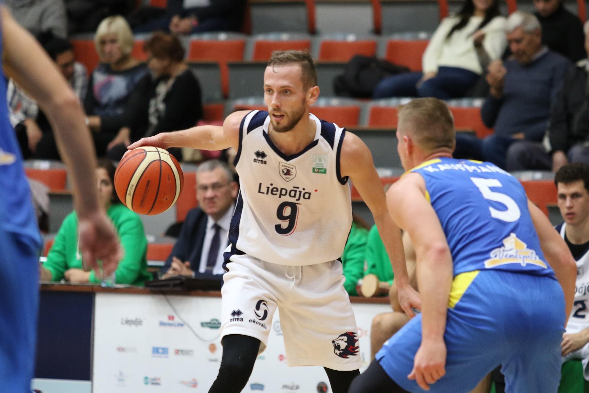 Kurzemes derbijā Liepājas basketbolisti piedzīvo zaudējumu