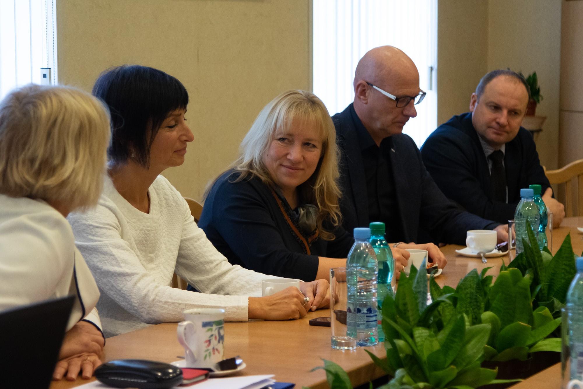Liepājas Universitātes un LSPA vadība runā par kopēju programmu veidošanu