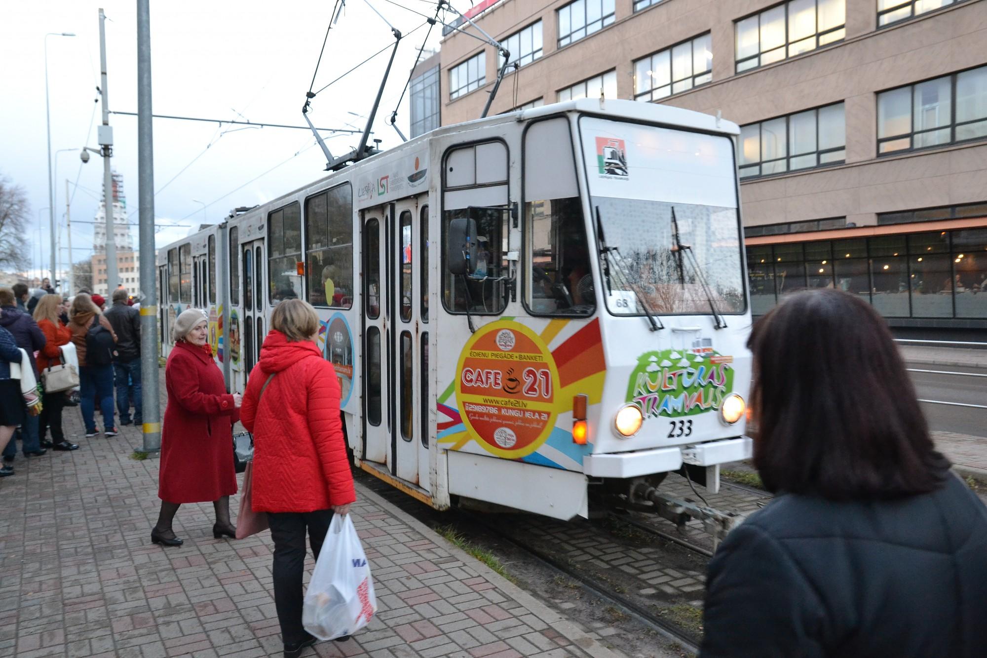 Liepājā ar tramvajiem pārvadāto pasažieru skaits deviņos mēnešos audzis par 5,7%