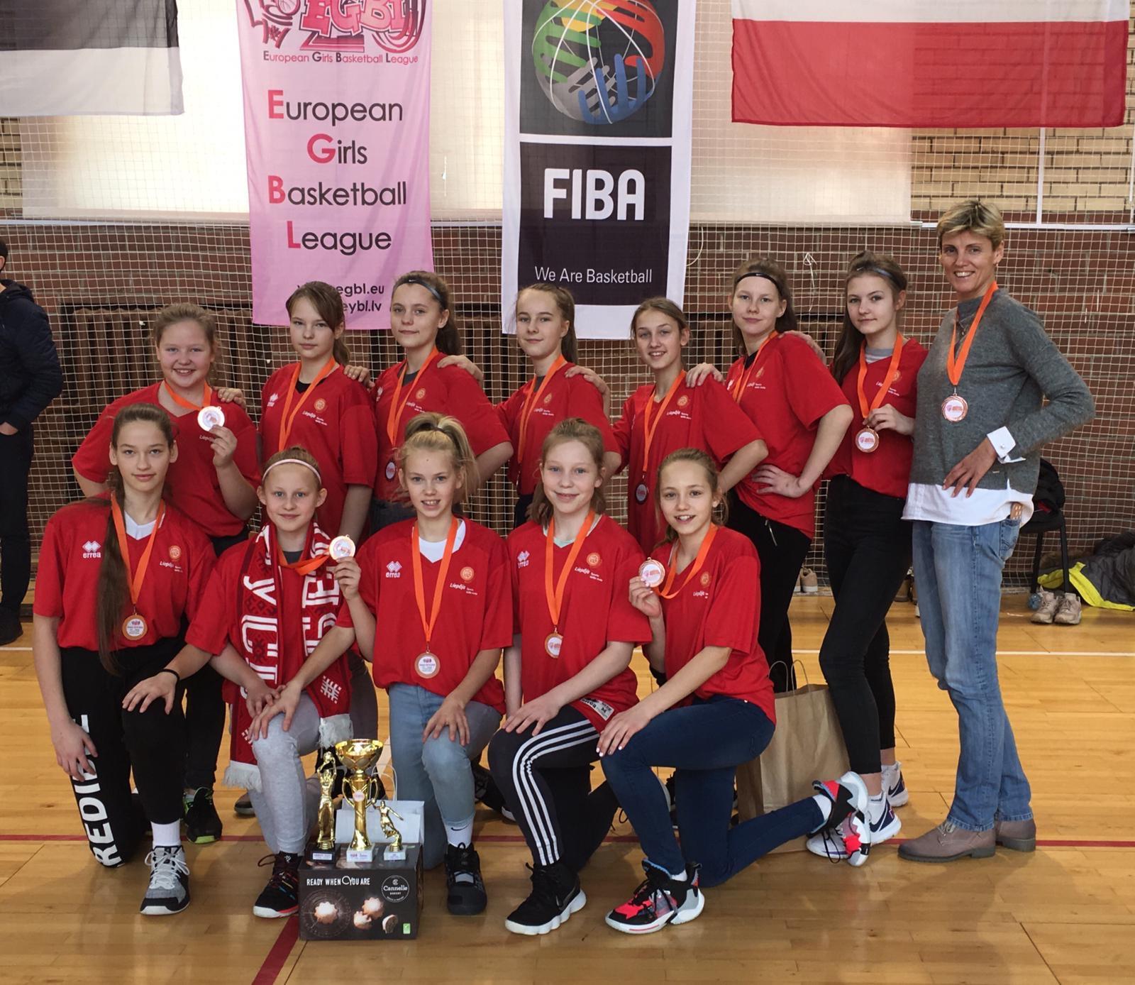 U13 basketbolistes atgriezušās no sacensībām Baltkrievijā