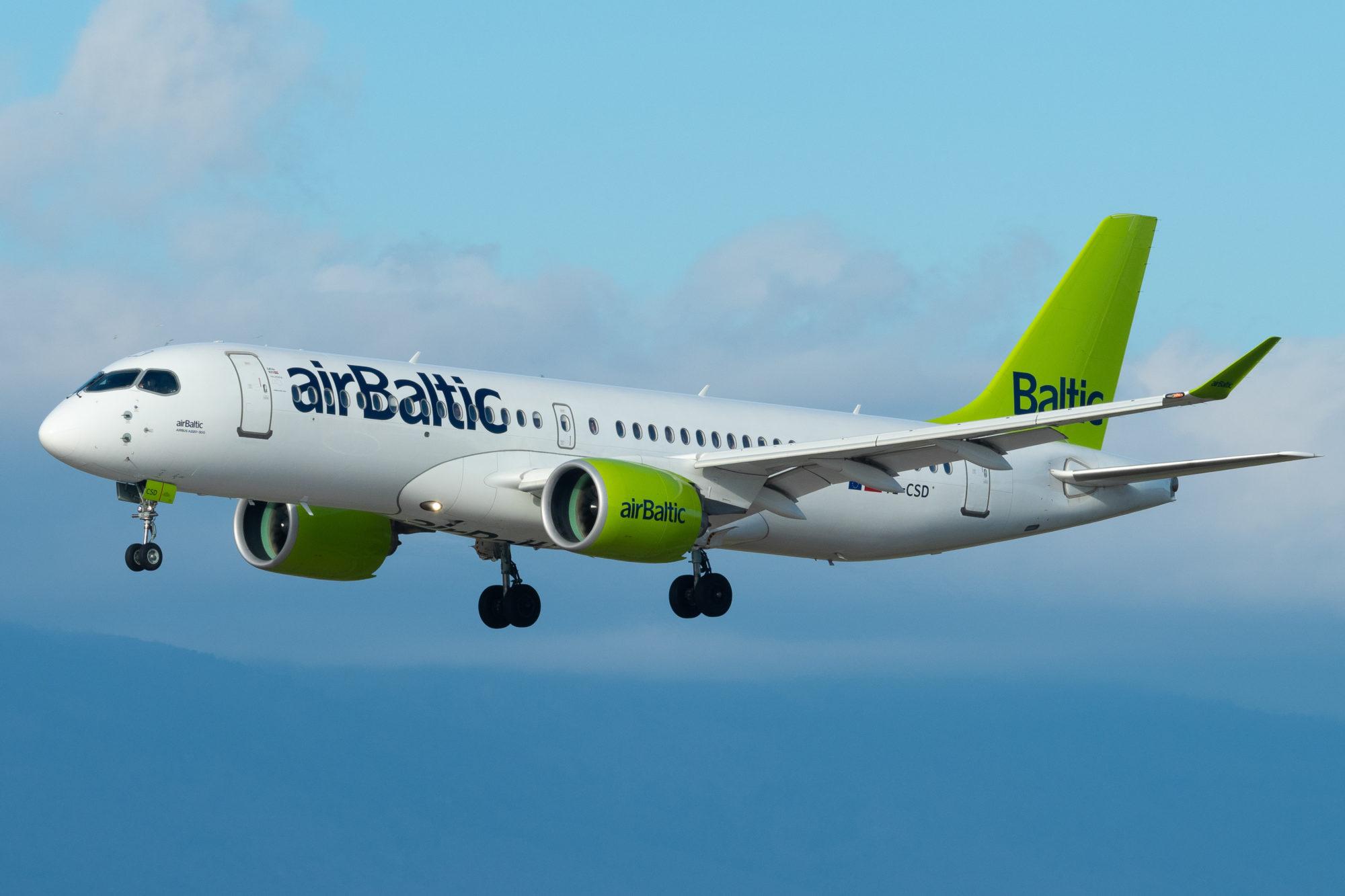 AirBaltic reisā Rīga–Liepāja lidos tikai vienu reizi nedēļā