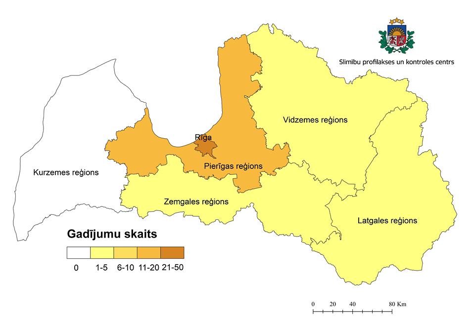 Valstī līdz šim reģistrēts 71 ar koronavīrusa izraisīto slimību sasirdzis cilvēks; Kurzemē pagaidām neviena