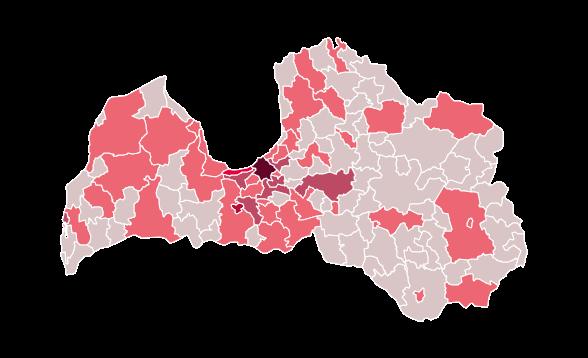 Pieaudzis saslimušo skaits arī Liepājas novadā; aizvadītajā diennaktī Latvijā konstatēti 42 jauni saslimšanas gadījumi ar Covid-19