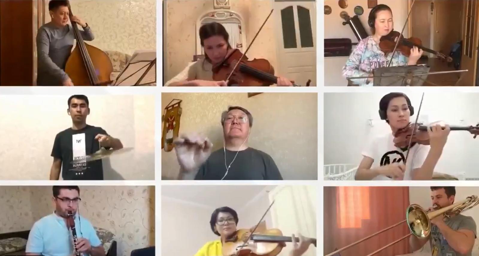 Dienas prieks: Simfoniskais orķestris arī pašizolācijas apstākļos uzstājas pilnā sastāvā