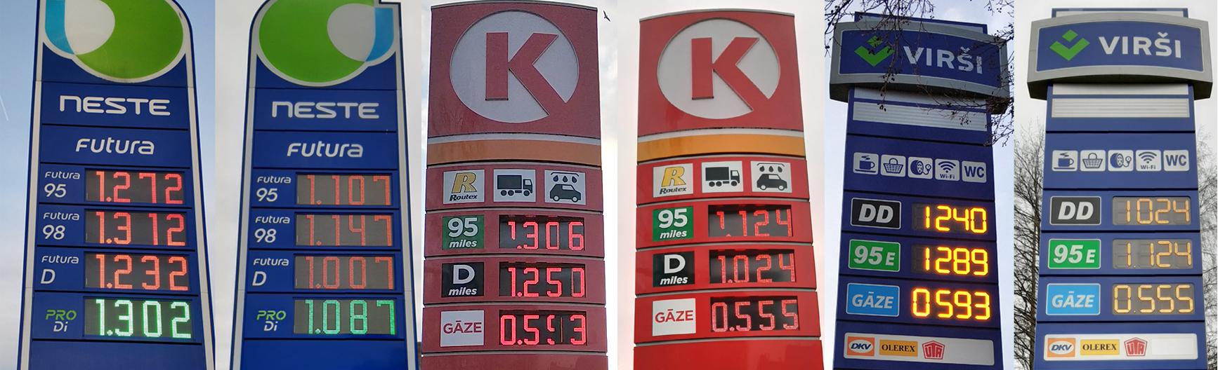 Degviela kļūst aizvien lētāka