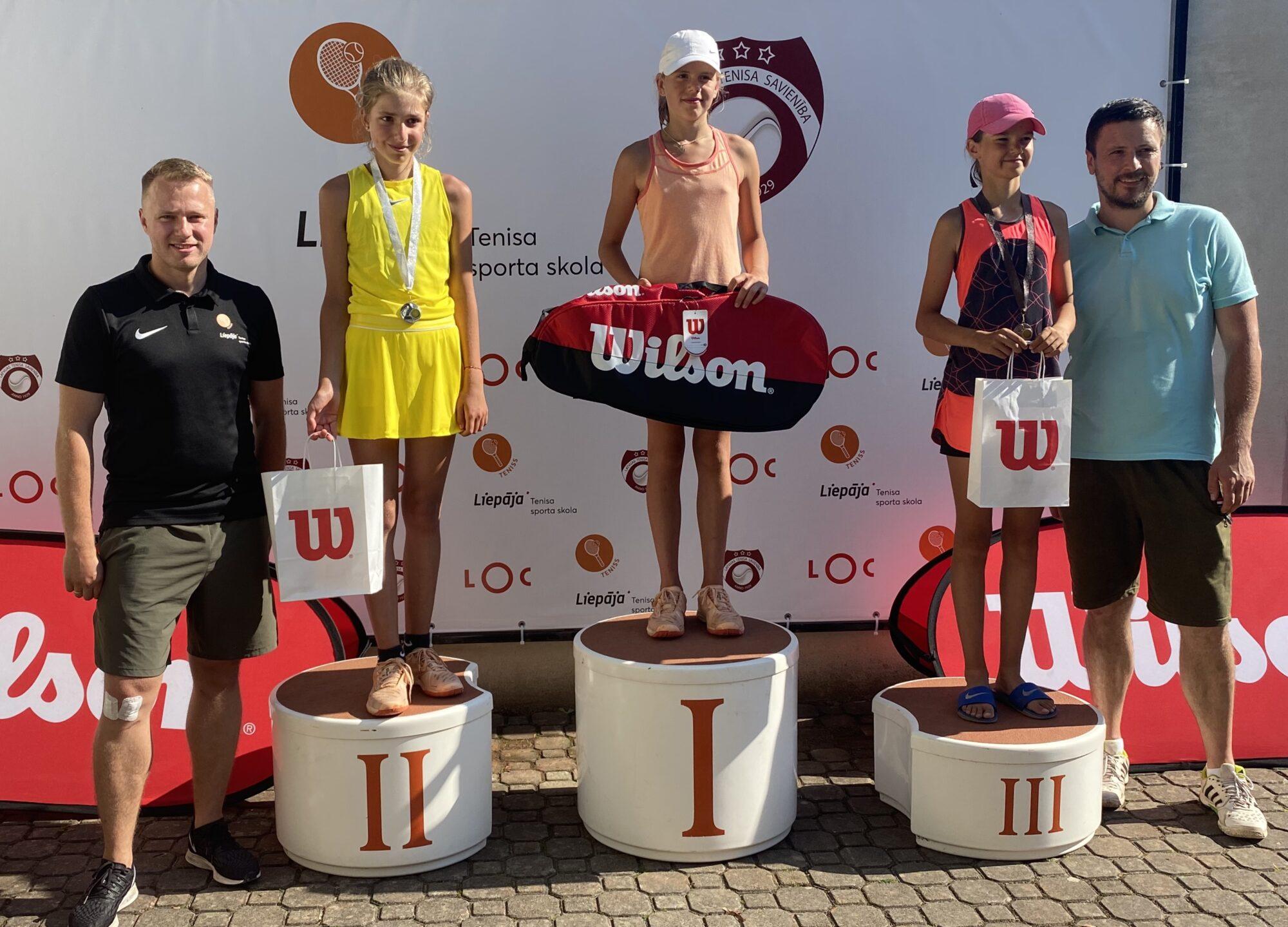 Ar liepājnieces Marijas Lauvas triumfu Liepājā iesākusies vasaras tenisa sacensību sezona