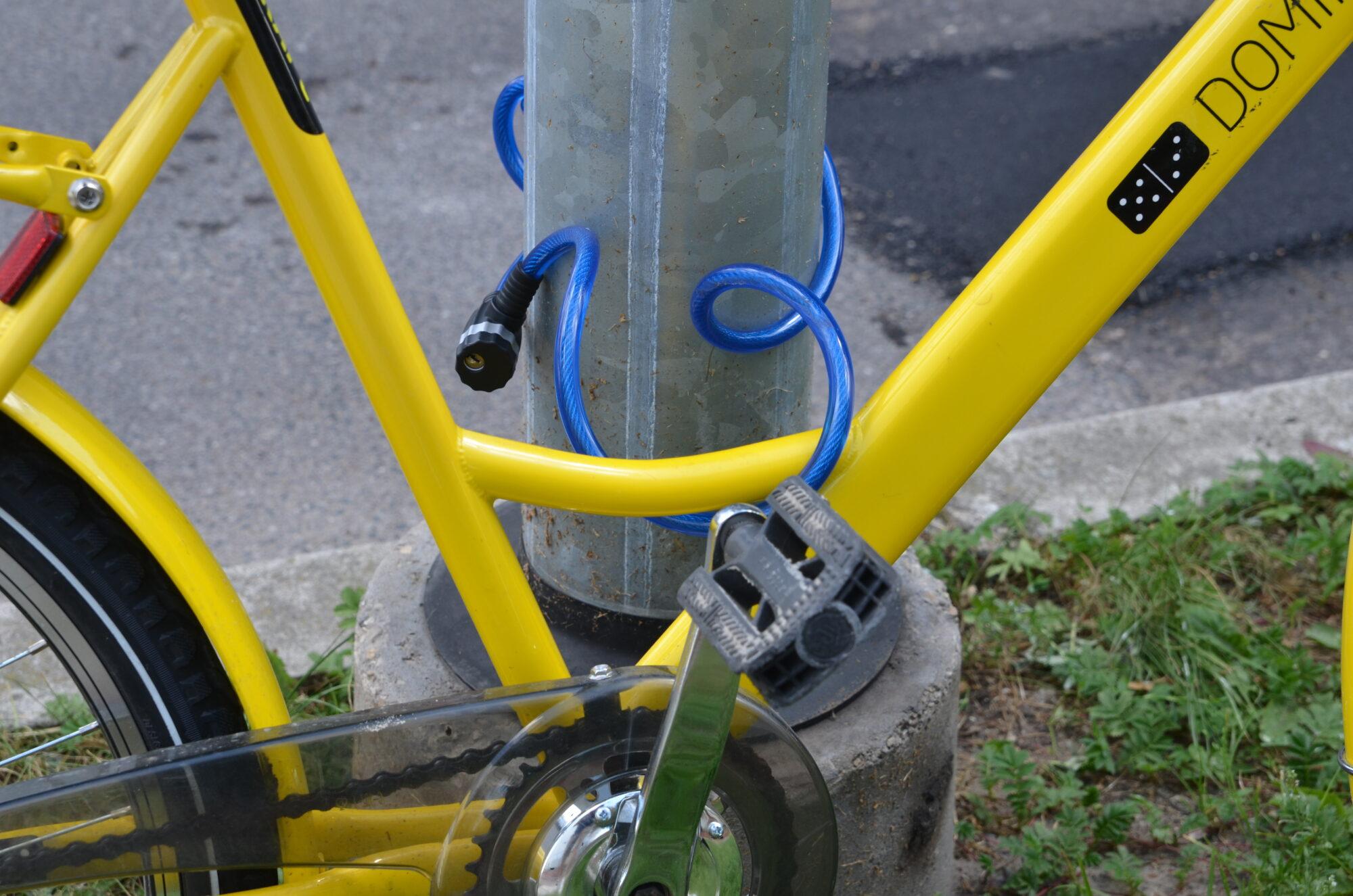 Nozagts kārtējais velosipēds