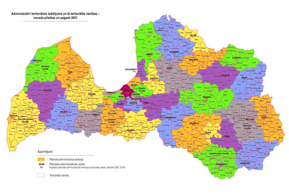 Valsts prezidents izsludina Administratīvi teritoriālās reformas likumu